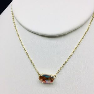 Kendra Scott Ever dichroic glass G tone necklace